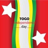 Gelukkige Onafhankelijkheid Dag van de de onafhankelijkheidsdag van Togo, Togo vector het malplaatjeontwerp - Het vector stock illustratie