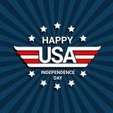 Gelukkige onafhankelijkheidsdag van de V.S. Stock Afbeeldingen