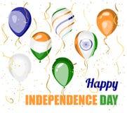 Gelukkige Onafhankelijkheidsdag van het vectorontwerp van India Royalty-vrije Stock Fotografie