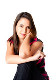 Gelukkige ontspannen jonge vrouw Stock Foto's