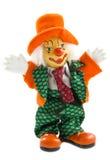 Gelukkige oranje clown royalty-vrije stock fotografie