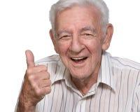 Gelukkige oude mens Stock Fotografie