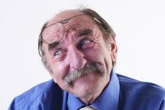 Gelukkige oude mens Royalty-vrije Stock Foto's