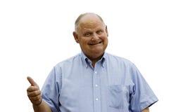 Gelukkige Oude Mens Stock Foto's