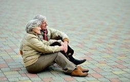 Gelukkige oude mensen royalty-vrije stock fotografie