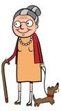 Gelukkige oude vrouw Stock Foto