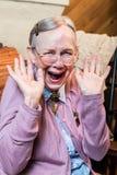 Gelukkige oude vrouw Stock Fotografie