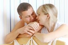 Gelukkige ouders stock fotografie