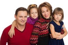 Gelukkige ouders met kinderen royalty-vrije stock foto