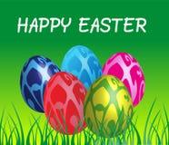 Gelukkige paaseieren, Pasen-dag, Pasen-seizoen, april Pasen, eieren vector, groene vector Stock Foto's