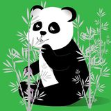 Gelukkige panda in een bamboebosje een vector stock illustratie