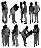 Gelukkige paren in liefde Stock Afbeeldingen