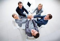 Gelukkige partners Stock Foto's