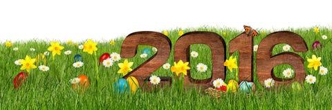 2016 gelukkige Pasen Stock Fotografie