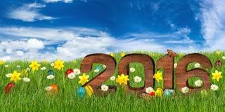 2016 gelukkige Pasen Stock Afbeelding