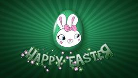 Gelukkige Pasen-aanhangwagen 50 van de animatietitel FPS-donkergroene oneindigheid stock illustratie