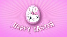 Gelukkige Pasen-aanhangwagen 30 van de animatietitel FPS-oneindigheidsroze stock illustratie