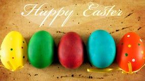 Gelukkige Pasen-achtergrond Stock Foto