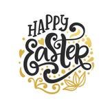 Gelukkige Pasen-banner, van de achtergrond groetkaart malplaatje Stock Afbeeldingen