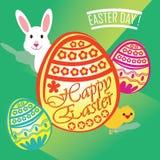Gelukkige Pasen-Dag! Stock Afbeelding