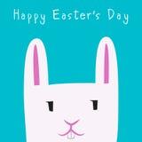 Gelukkige Pasen Dag Bunny Face Royalty-vrije Stock Fotografie