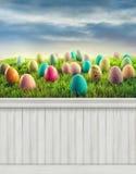Gelukkige Pasen-de Lenteachtergrond als achtergrond Stock Afbeeldingen