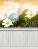 Gelukkige Pasen-de Lenteachtergrond als achtergrond Royalty-vrije Stock Afbeelding
