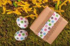 Gelukkige Pasen decoratie Stock Foto