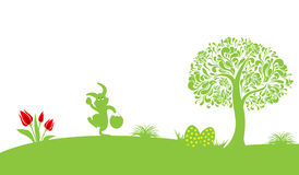 Gelukkige Pasen-Decoratievector stock fotografie