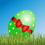Gelukkige Pasen-Decoratievector royalty-vrije stock afbeelding