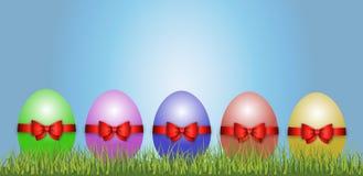 Gelukkige Pasen-Decoratievector royalty-vrije stock foto
