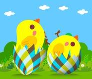 Gelukkige Pasen-Groetachtergrond Stock Fotografie