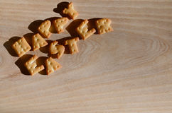 Gelukkige Pasen Hoop van eetbare brieven Stock Foto