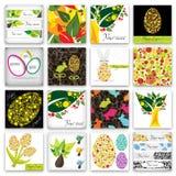 Gelukkige Pasen kaarten stock illustratie
