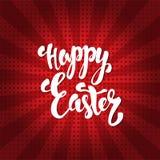 Gelukkige Pasen-kalligrafie Hand getrokken elementen voor uw ontwerp Stock Afbeeldingen