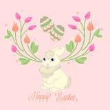 Gelukkige Pasen-konijntjeskaart Stock Fotografie