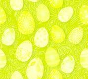 Gelukkige Pasen Naadloos paaseierenpatroon met verschillende textuur 3d geef realistische vectorillustratie terug De lente Royalty-vrije Stock Foto's