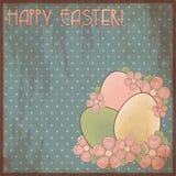 Gelukkige Pasen-uitnodigingsprentbriefkaar Stock Fotografie