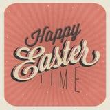 Gelukkige Pasen! Uitstekende de groetkaart van stijlpasen. Royalty-vrije Stock Afbeeldingen