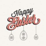 Gelukkige Pasen! Uitstekende de groetkaart van stijlpasen Royalty-vrije Stock Foto