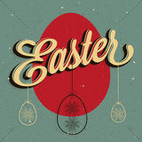 Gelukkige Pasen! Uitstekende de groetkaart van stijlpasen Stock Fotografie