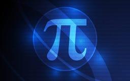 Gelukkige Pi-Dagbanner 14 Maart 3 14 cijfers van Pi-Vector stock illustratie