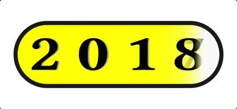 Gelukkige pictogramtype van de Nieuwjaar 2018 Abstracte knoop illustratie met 2018 die installatie voltooien Royalty-vrije Stock Foto