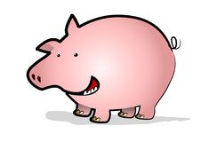 Gelukkige piggy vector illustratie