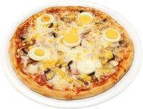 Gelukkige pizza Royalty-vrije Stock Afbeeldingen