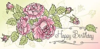 Gelukkige Prentbriefkaar 2 van de Verjaardag Royalty-vrije Stock Afbeeldingen