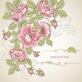 Gelukkige Prentbriefkaar 4 van de Verjaardag Royalty-vrije Stock Afbeelding