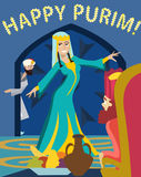 Gelukkige purim, het Feest van Esther vector illustratie