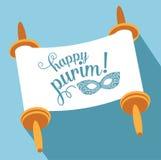Gelukkige Purim met torah en masker stock illustratie