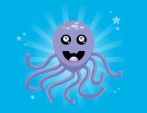 Gelukkige Purpere Octopus Royalty-vrije Stock Afbeeldingen